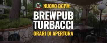 Nuovo DCPM – Orari BrewPub Turbacci